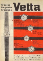 # VETTA OROLOGI HORLOGERIE 1950 Italy Advert Publicitè Reklame Orologio Montre Uhr Reloj Relojo Watch - Orologi Pubblicitari