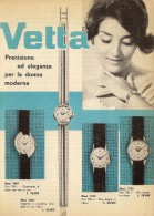 # VETTA OROLOGI HORLOGERIE 1950 Italy Advert Publicitè Reklame Orologio Montre Uhr Reloj Relojo Watch - Montres Publicitaires