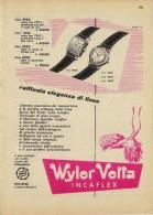 # WYLER VETTA INCAFLEX OROLOGI HORLOGERIE 1950 Italy Advert Publicitè Reklame Orologio Montre Uhr Reloj Relojo Watch - Orologi Pubblicitari