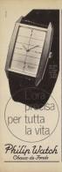 # PHILIP WATCH CHAUX-D-F SUISSE HORLOGERIE 1950 Italy Advert Publicitè Reklame Orologio Montre Uhr Reloj Relojo Watch - Montres Publicitaires