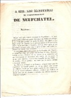 NEUFCHATEL BREMONTIER MERVAL VICOMTE CERTAIN DE BELLOZANNE AUX ELECTEURS DE L'ARRONDISSEMENT - Historical Documents