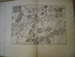 MAP OF LENS AND LEUSE CAMPS, 1674, FRANCE - Landkarten