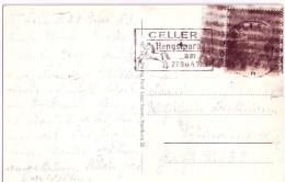 Postkrieg Ansichtskarte CELLE Schwärzung Kriegsgefangenmarke 22.9.1953 Nach Schwerin - BRD