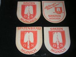 Lot De 4 - Sous Bocks/Beermat/Bierviltjes /Coaster/Bierdeckel-  Spatenbrau Munchen, Spaten, - Sous-bocks