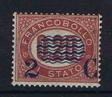 Italy:   1878 Sa  30, Mi  30 MNH/**  Cat Value 1250 Euro Sa. Very Light  Vert Rib In Gum - Ongebruikt