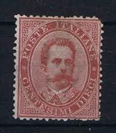 Italy:   1879 Sa  38, Mi  38 A MH/* - 1878-00 Umberto I