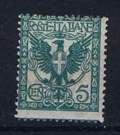 Italy:  1901  Sa  70 , Mi 76 MNH/** - 1900-44 Vittorio Emanuele III