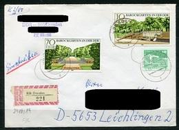 DDR Nr.2486 + 2489     Sammler Brief  Einschreiben Gelaufen (B215) (Jahr:1980) Dresden - Leichlingen - FDC: Enveloppes