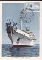 Carte-Maximum FRANCE N° Yvert 1245 (Navire Cablier) Obl Sp Ill Journée Du Timbre Hussein-Dey (Ed CIM-FDC) - 1960-69