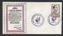 DF / GUERRE 1939-45 / 35e ANNIV. DE L' APPEL / 26 VASSIEUX EN VERCORS / HOMMAGE AUX FRANÇAIS LIBRE ET .../ TP 1103 - Militaria