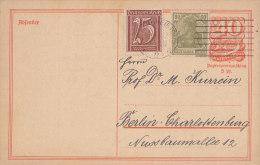 INFLA DR  147 II, 161 Auf P 141 I, Mit Stempel: Karlsruhe 28.?.1922, Absender: Stadtrabbiner Dr. Victor Kurrein, Judaika - Autogramme & Autographen
