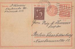 INFLA DR  180 Auf P 153 I, Mit Stempel: Karlsruhe 25.8.1922, Absender: Stadtrabbiner Dr. Victor Kurrein, Judaika - Autogramme & Autographen