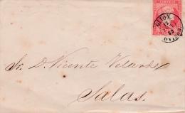 01987 Carta Oviedo A Salas 1859 - Covers & Documents