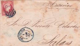 01989 Carta Oviedo A Salas 1857 - Covers & Documents