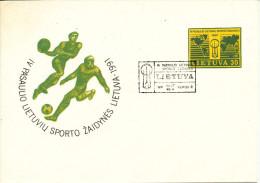Lithuania Postal Stationery Cover SPORT 1991 - Lithuania