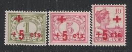 INDIE OLANDESI - 1915 - 3 Valori Nuovi Stl Soprastampati A Profitto Della CROCE ROSSA - In Ottime Condizioni. - Indes Néerlandaises