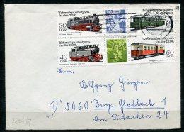 DDR Nr.2864/7 Streifen   Sammler- Brief   Gelaufen  (B256) (Jahr:1984) Teterow - Bergisch-Gladbach - [6] Democratic Republic
