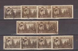 1947 - Roi Michel / Activites Nationales Yv No 984  Et Mi 1075   LOT X 10 - 1918-1948 Ferdinand, Carol II. & Mihai I.