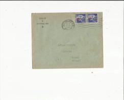 Enveloppe Timbrée  De  L´Eveche De Montpelier 34 Adres A Mr Viguier Notaire A Roujan 34 En 1941 - Oblitérations Mécaniques (Autres)