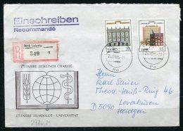 DDR Nr.2980/1   Sammler- Brief Einschreiben  Gelaufen  (B263) (Jahr:1985) Leipzig - Leverkusen - [6] Democratic Republic