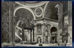 ROMA, Interno S.Pietro, Fotokarte Nicht Gelaufen Um 1950, Sehr Gute Erhaltung - Ohne Zuordnung
