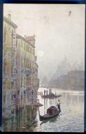 VENEZIA, Canal Grande, Künstlerkarte Gel.um 1909, Doppelfrankierung, Gute Erhaltung - Venezia