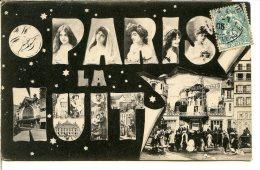75 PARIS LA NUIT - Portraits Féminins, Le Moulin Rouge, La Lune, Montmartre - Arrondissement: 18