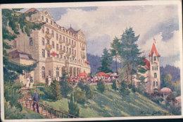 Tchéquie Marienbad, Hôtel Esplanade Und Villa Waldidylle (20211) Usure Des Angles - Czech Republic