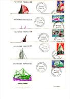 Lot De  6 Enveloppes Premier Jour. Divers Bateaux. Belles Illustrations Colorées. 1966 - Storia Postale