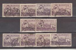 1947 - Roi Michel / Activites Nationales Yv No 982  Et Mi 1073   LOT X 10 - 1918-1948 Ferdinand, Carol II. & Mihai I.