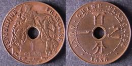INDOCHINE  1 Cent 1938   INDOCINA  INDOCHINA    PORT OFFERT - Vietnam