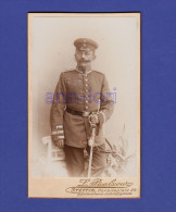 0749 # Cabinett Photo CDV • Soldat Traditions-Rgt Garde Zu Fuß Um 1900 • Stettin, L. Paalzow • Ca. 10 X 6 Cm - War, Military