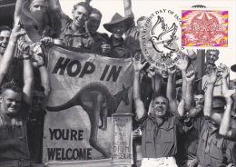 Australia 1995 50th Anniversary End WWII, The Japanese Surrender, Maximum Card - Maximum Cards