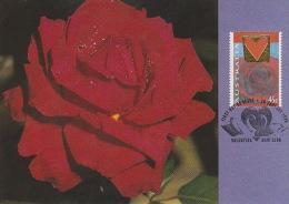 Australia 1995 Valentine Day Rose - Maximum Cards