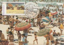 Australia 1996 Australia Day Beach Umbrellas - Maximum Cards
