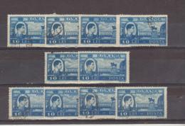 1947 - Roi Michel / Activites Nationales Yv No 981  Et Mi 1072   LOT X 10 - Gebraucht