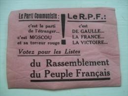 Petite Affiche (12cmx9cm) Election De Gaulle - Affiches