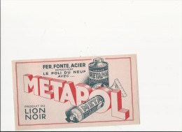 Buvard (format 115x205mm) - B1342 - Nettoyeur Métaux METAPOL ( Non Utilisé) - N