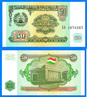 Tadjikistan 50 Roubles 1994 NEUF UNC Neuf Prefix AA Tajikistan Asie Asia Diram Dirhams Dirams Dirham Skrill Paypal - Tayikistán