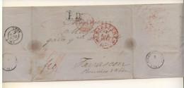 2 Lettres De 1851 Et 1867 De Frankfort Et Berlin  Pour Tarascon Et Bordeaux - PD Noir Et Rouge - Deutschland