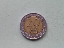 1998 - 20 Shillings / KM 32 ( Details See Photo ) ! - Kenya