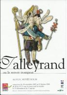 """Carte Pub AUTUN 71, Musée Rolin """"Talleyrand Ou Le Miroir Trompeur"""" 16 Novembre 2005/15 Février 2006 - Autun"""