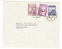 Brief 1933 Istanbul Nach Zürich Mit U. A. Zwangszuschlagsmarke Flugpost Mi#24. - 1921-... Republik
