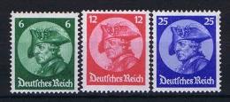 Germany 1933 Mi. Nr. 479-481, Yv  467-469, MNH/**, Cat. Value € 330,- - Ungebraucht
