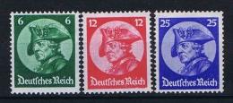 Germany 1933 Mi. Nr. 479-481, Yv  467-469, MNH/** Cat. Value € 330,- - Ungebraucht