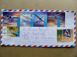 Cover Sent From Israel To Lithuania On 2014 Aviation Plane Avion Eretz - Cartas