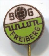 FOOTBALL / SOCCER / FUTBOL, Calcio - SG UNION FREIBERG, East Germany  DDR, Enamel, Pin,old Badge - Football