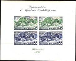 POLAND 1938 Warsaw Fi Bl 5A  Mint Hinged * - Nuevos