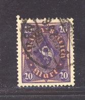 Al 095  -  Allemagne  -  Reich  :  Mi  207 W (o)  Signé - Geprüft  ,  Cote 34 € - Infla