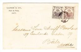 1898 Brief HAITI Mit Scott#40, 42 Nach Basel Mit AK-Stempel - Haïti